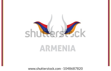 armenia flag and tulip