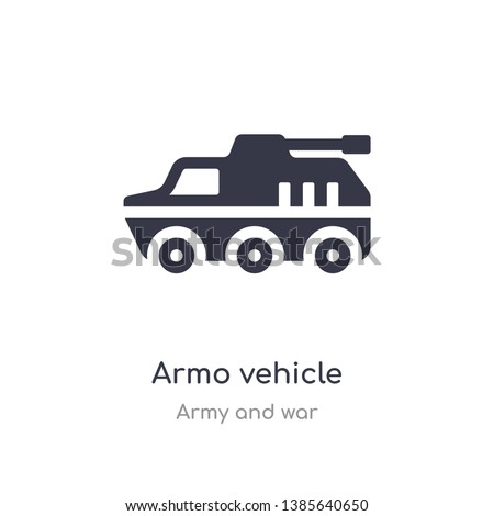 armo vehicle icon. isolated armo vehicle icon vector illustration from army and war collection. editable sing symbol can be use for web site and mobile app