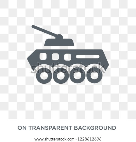 Armored Vehicle icon. Armored Vehicle design concept from Army collection. Simple element vector illustration on transparent background.