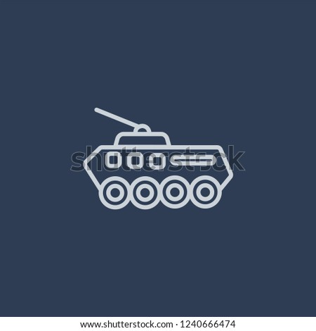 Armored Vehicle icon. Armored Vehicle linear design concept from Army collection. Simple element vector illustration on dark blue background.