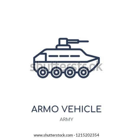 Armored Vehicle icon. Armored Vehicle linear symbol design from Army collection.