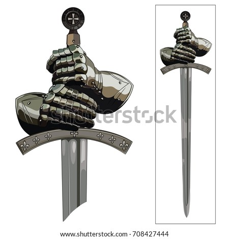 armour gloves of the knight and