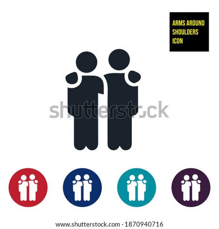 Arms around shoulders icon stock illustration. Friendship Icon, demonstrating friendship, friends showing forth friendship and camaraderie between one another. Stock photo ©
