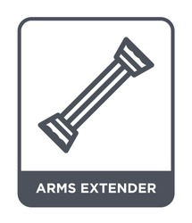 arms extender icon vector on white background, arms extender trendy filled icons from Gym and fitness collection, arms extender simple element illustration