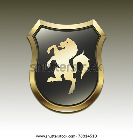 Arms in an horse vector