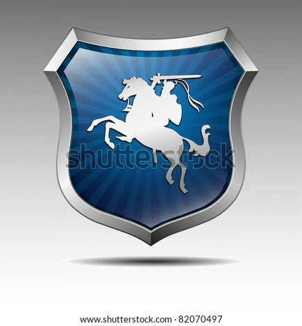 Arms with the knight on horse