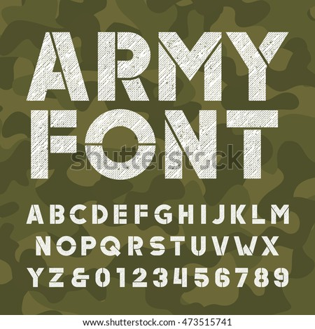 army alphabet font scratched