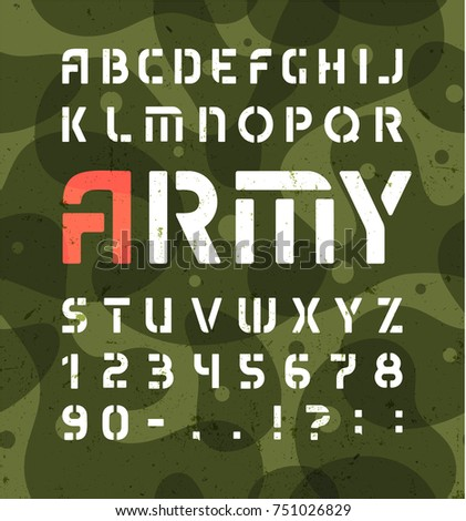 army alphabet stencil military