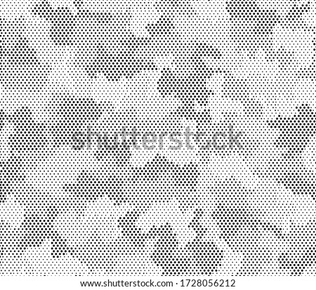 Army camouflage hexagon seamless pattern