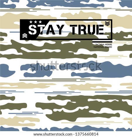 army concept  cool graphic pattern seamless design backgorund t shirt vector illustration and other use