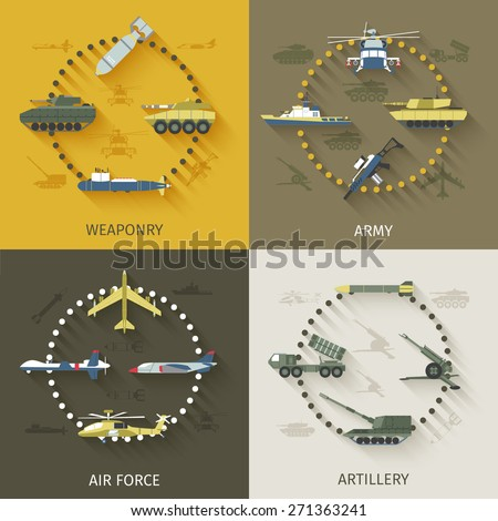 army design concept set with
