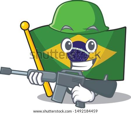 army flag brazil in the cartoon