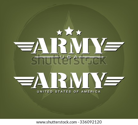 army graphic template  vector
