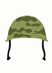 Army hat illustration, isolated on white background.