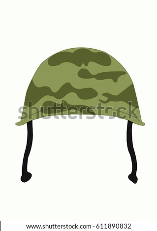 Army hat illustration, isolated on white background.