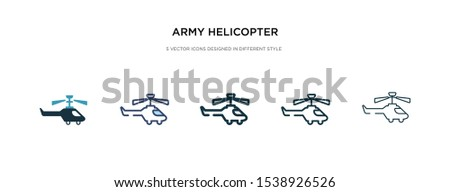army helicopter icon in