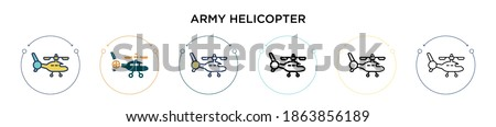 army helicopter icon in filled