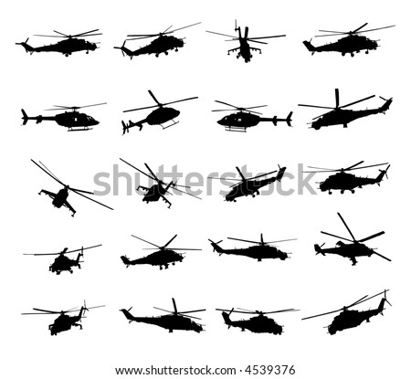 Army Helicopter Vector Illustration - stock vector