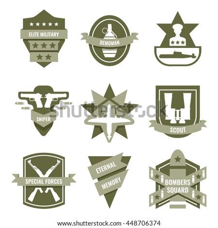 army khaki emblems with