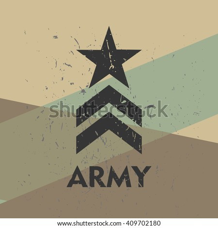 army military stamp  label