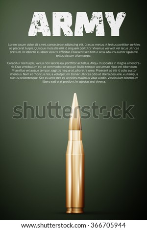 army poster graphic template