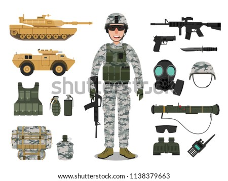 army soldier character with