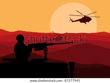 army soldier in desert