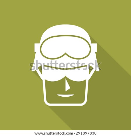 army soldier usa flat icon with