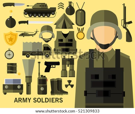 army soldiers concept
