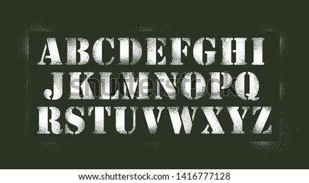 army spray stencil numbers font