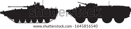 army tank and military vehicle