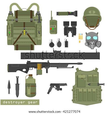 army uniform  army uniform flat