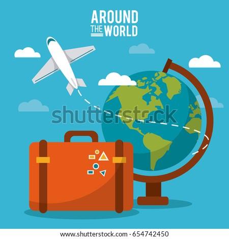 around the world globe world
