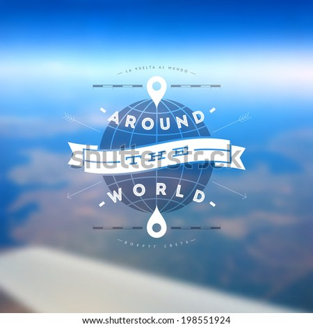 around the world   type design