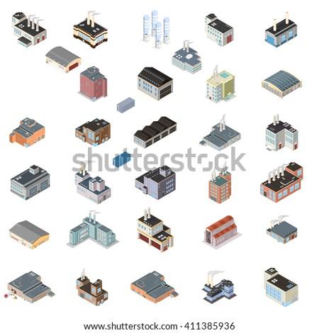 array of industrial buildings