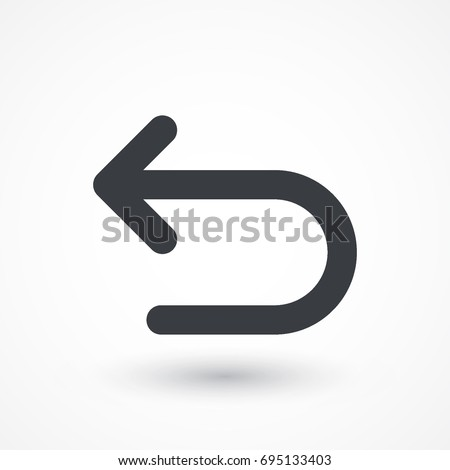 Arrow back vector icon. Direction sign