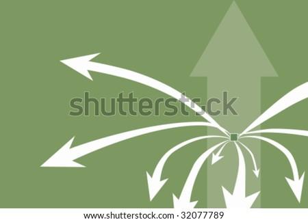 arrow background green