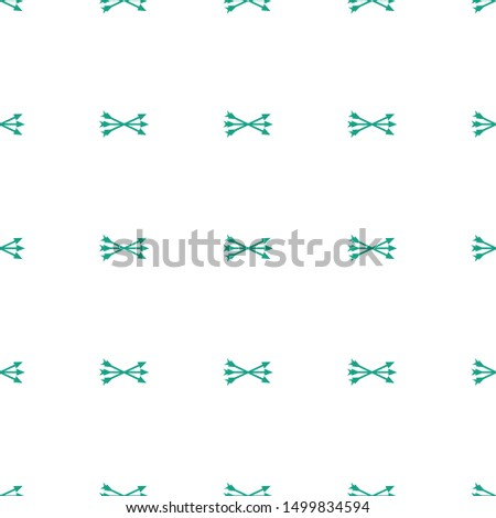 arrow bow icon pattern seamless white background. Editable filled arrow bow icon. arrow bow icon pattern for web and mobile.