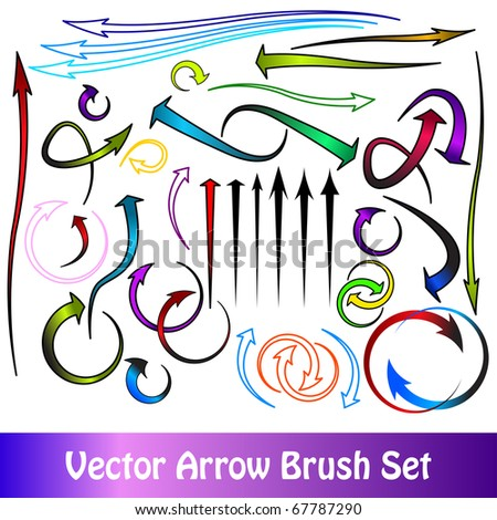 arrow brushes - stock vector