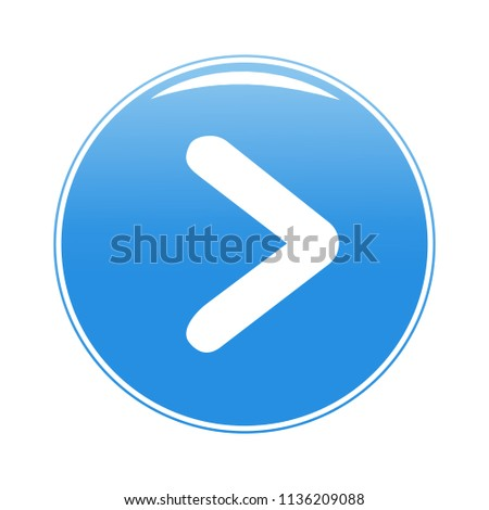 Arrow button icon isolated on white background. Trendy arrow button icon in flat style. Template for web site, app, ui and logo. Vector illustration, eps 10