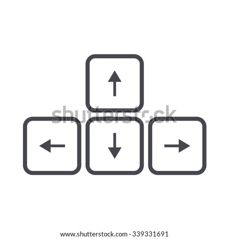 arrow button on keyboard icon