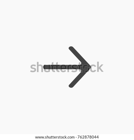 Arrow button vector icon on trendy light grey background. #762878044