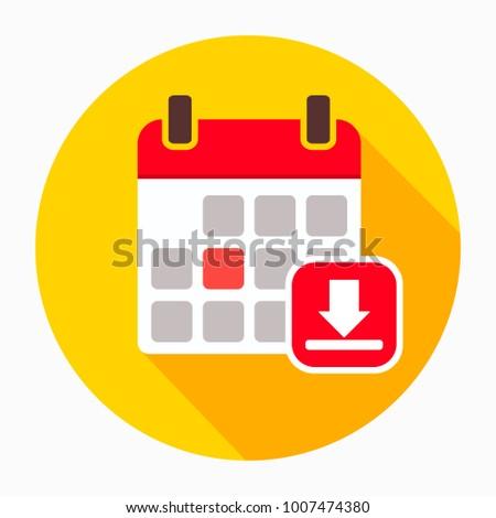 Arrow calendar down download icon