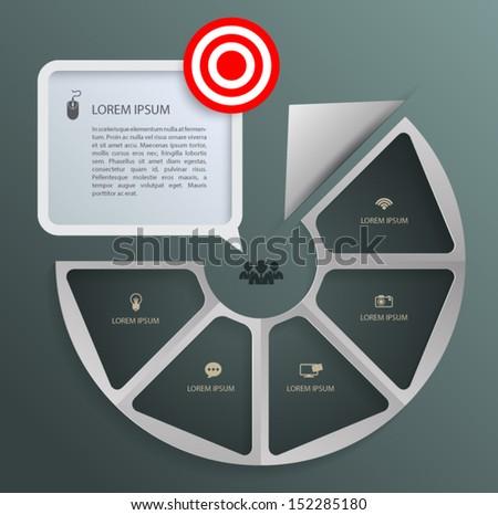 arrow circle step to target