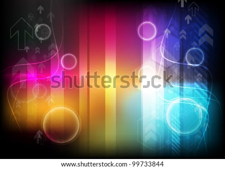 arrow colorful background - stock vector