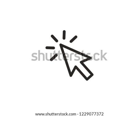 Arrow cursor click icon sign symbol