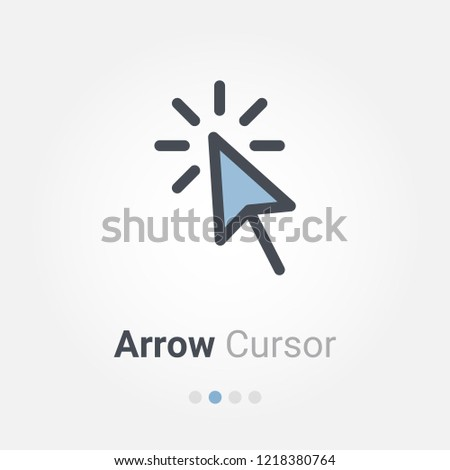 Arrow cursor vector icon
