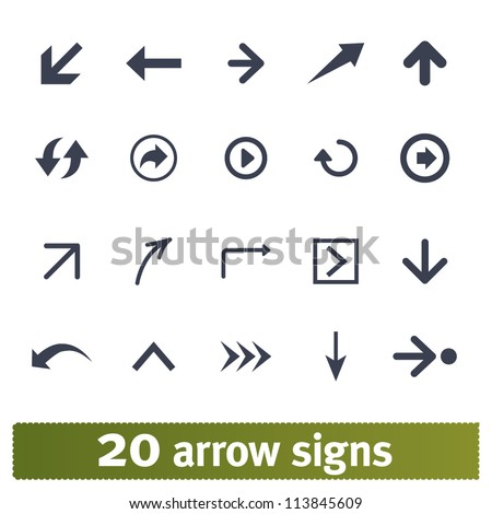 Arrow, direction signs: web vector set