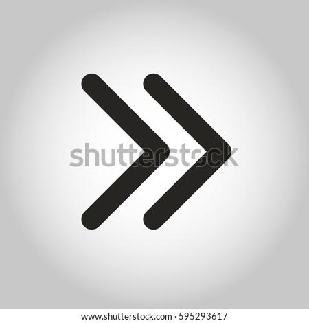 Arrow double next linear vector icon