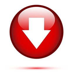 Arrow down on red button
